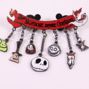 Nightmare Before Christmas Family Dangle Pin